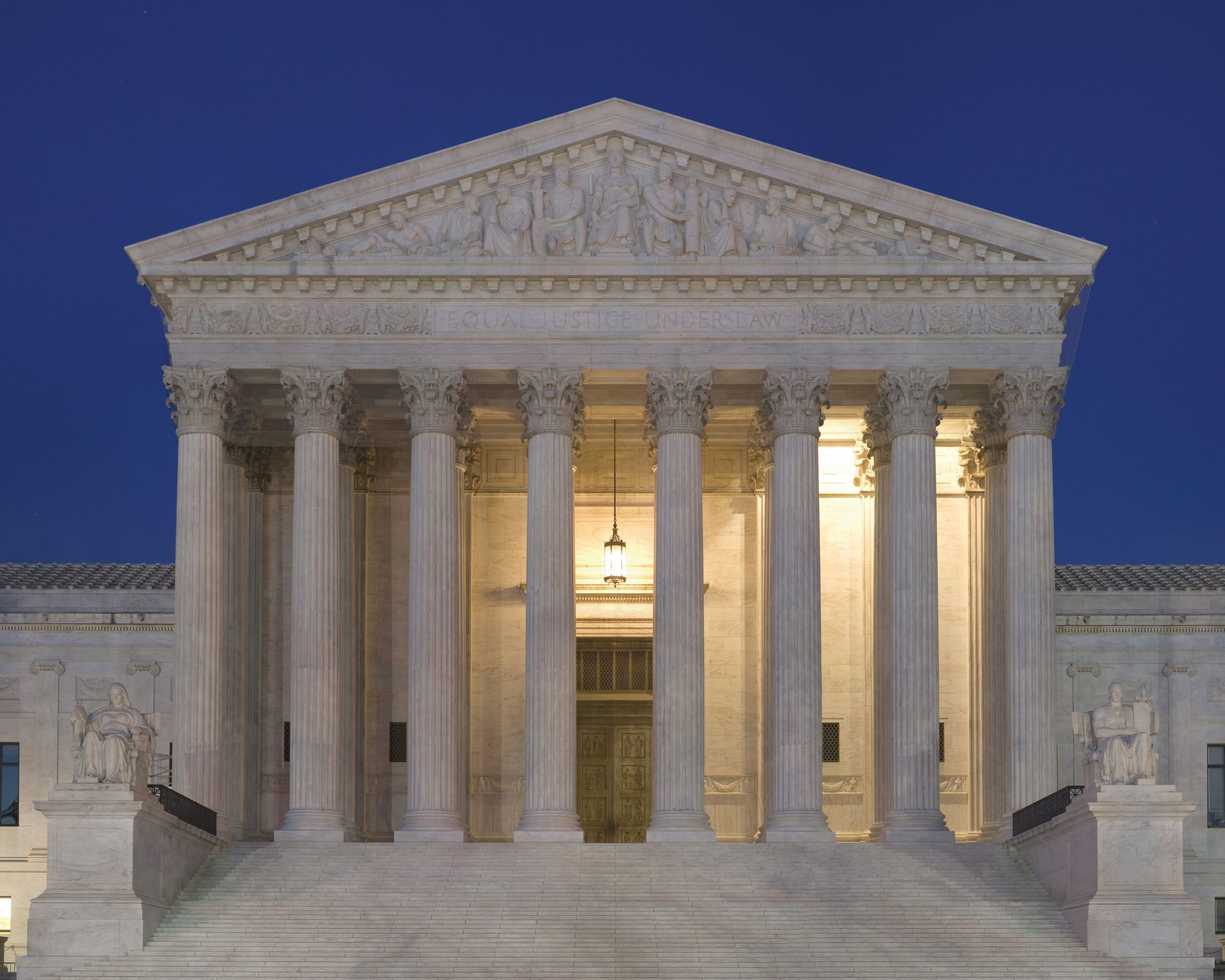 Front of the supreme court building