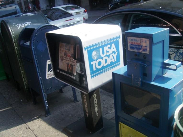 USA Today newspaper bin