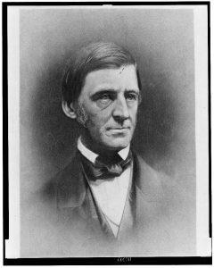 A portrait photo of Ralph Waldo Emerson