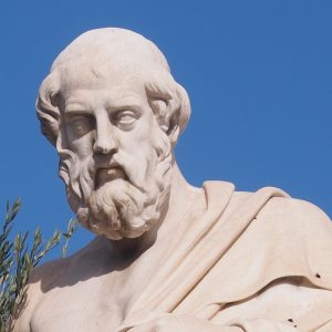 Statue of Plato by Leonidas Drosis
