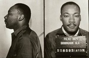 Martin Luther King Jr.'s mugshot while he was jailed in Birmingham.
