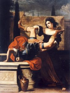 Timoclea Kills the Captain of Alexander the Great by Elisabetta Sirani (1659)