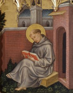 St. Thomas Aquinas in picture of Gentile da Fabriano (about 1400)