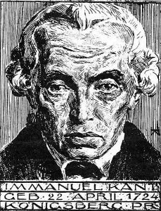 Illustrated portrait of Immanuel Kant (1924) by Heinrich Wolff